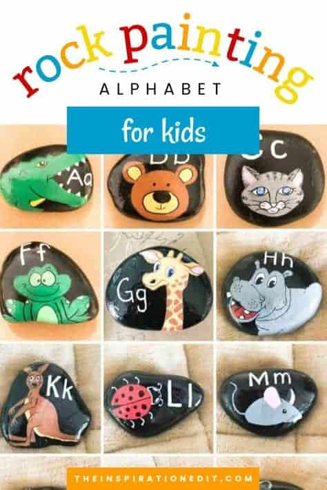 rock painting alphabet