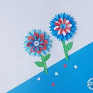 4th july paper flower craft