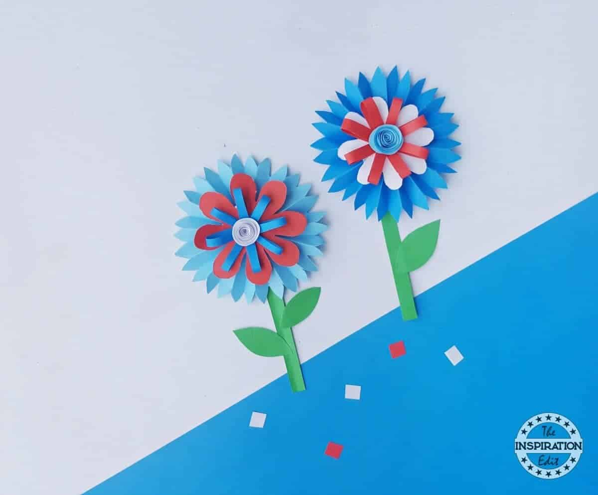 4th July Paper Flower Craft The Inspiration Edit