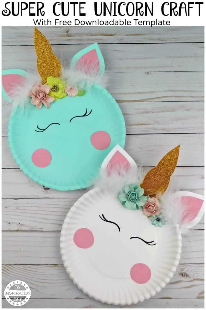 Paper Plate Crafts An Easy Unicorn Project The Inspiration