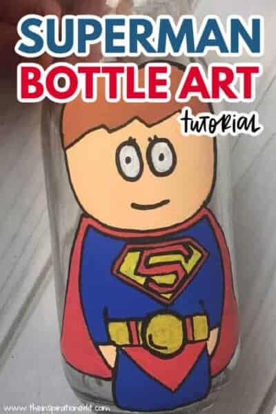 superman bottle art