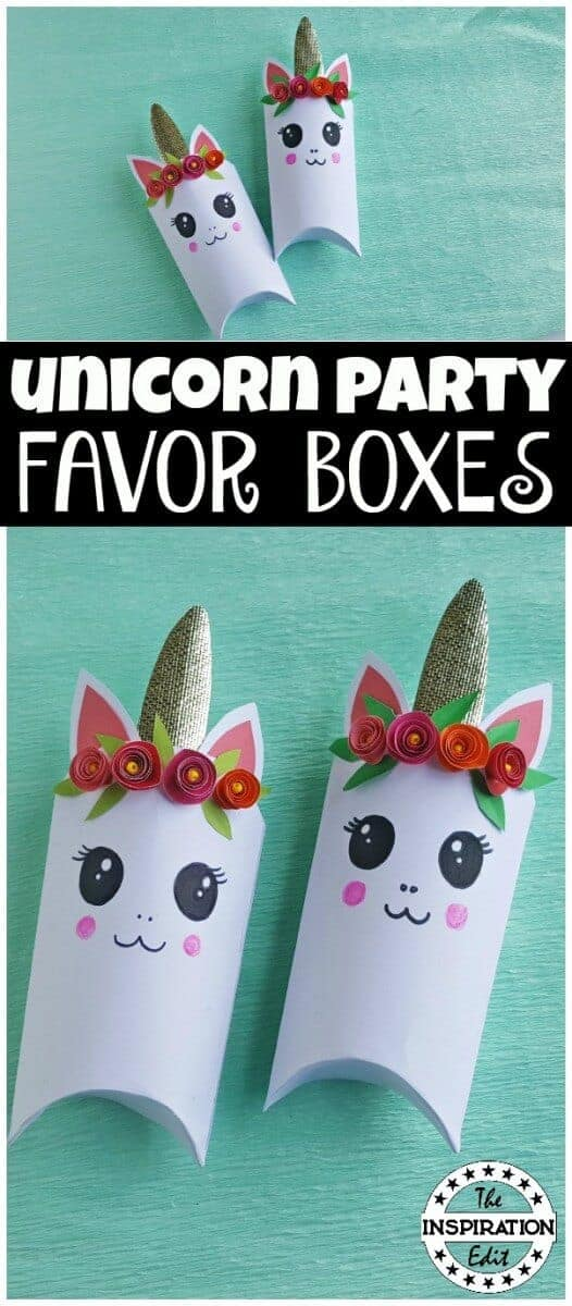 unicorn favor boxes