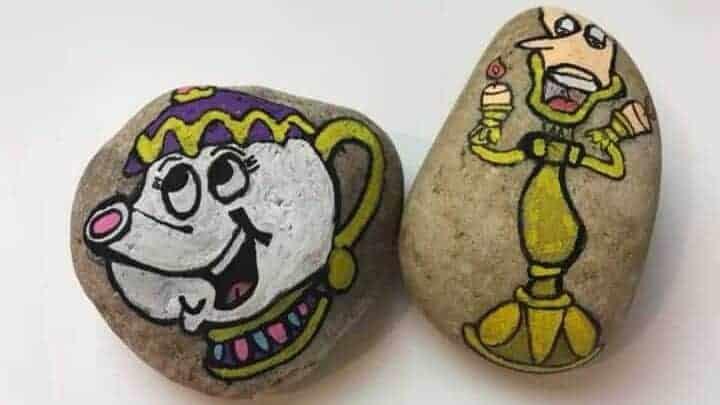 mrs potts painted rock