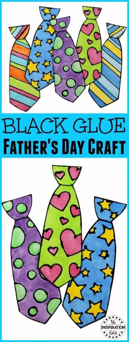 Black Glue Father's Day Craft