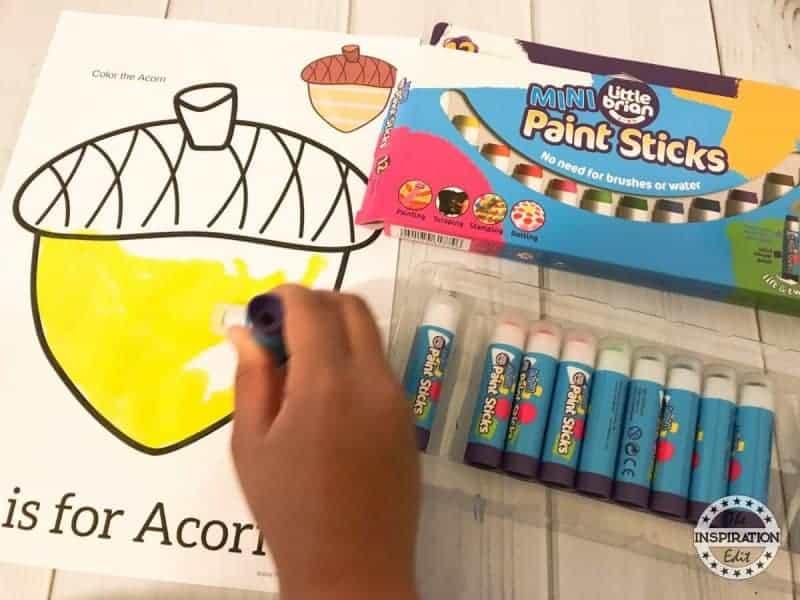 Acorn Preschool Printables