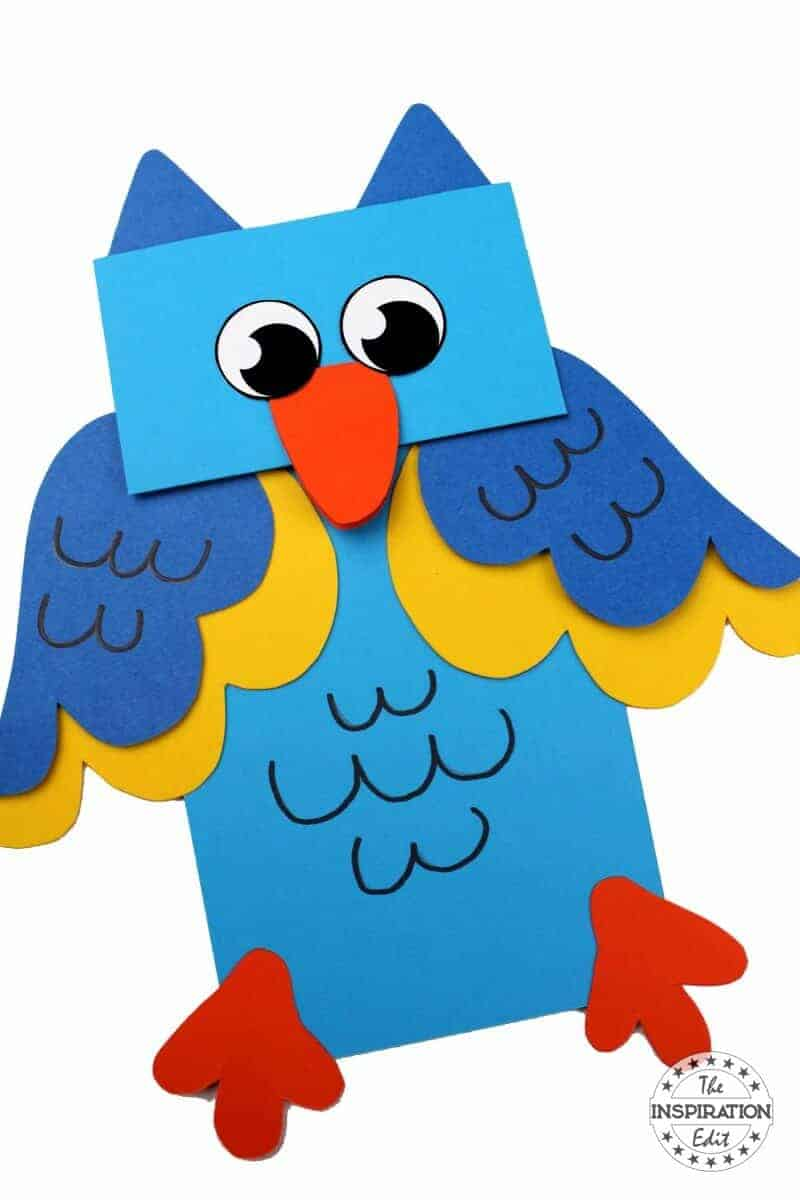 owl puppet owl craft fr kids