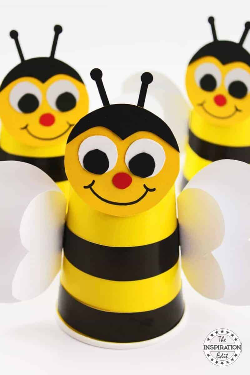 Paper Cup Preschool Bumble Bee Craft Idea The Inspiration Edit