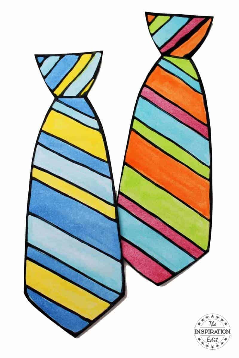 black glue fathers day tie