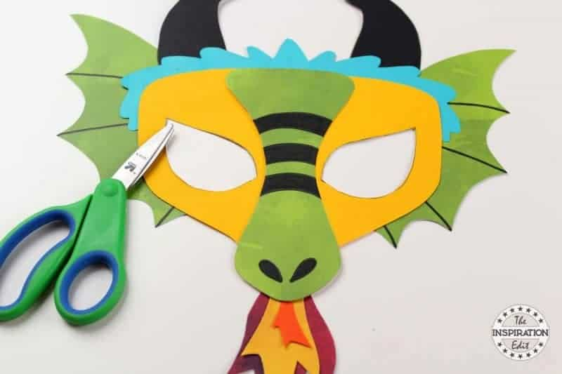 making a dragon mask dragon craft with kids
