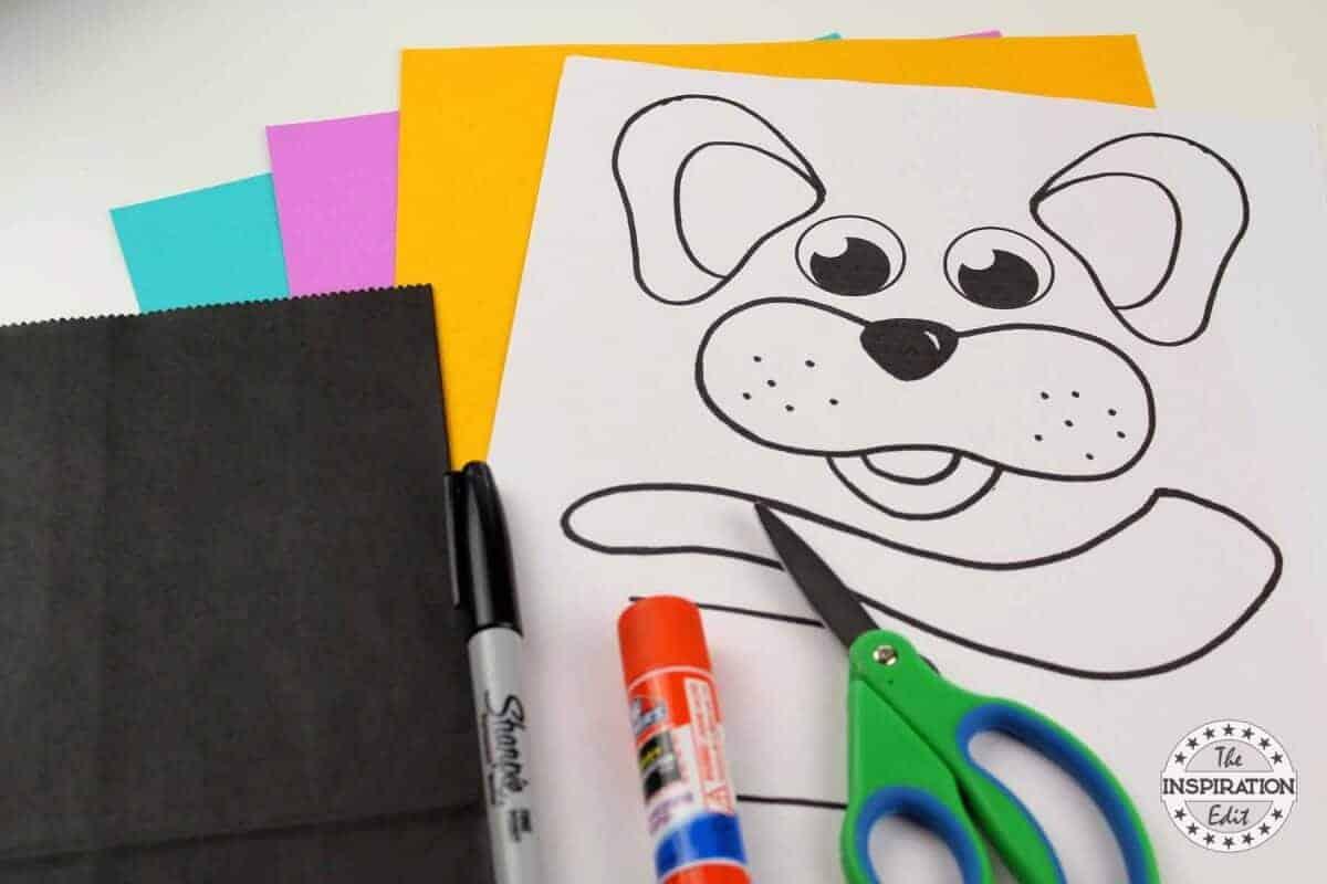 dog puppet preschool craft