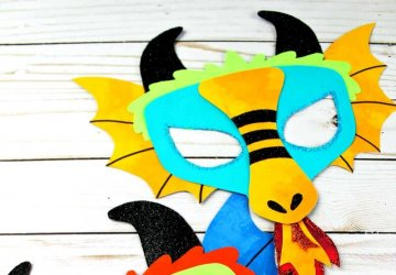 chinese dragon mask kids craft idea