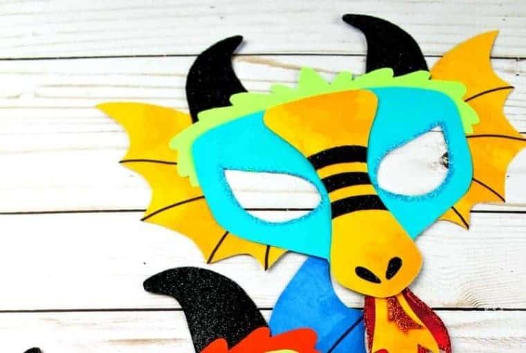 chinese dragon mask kids craft idea