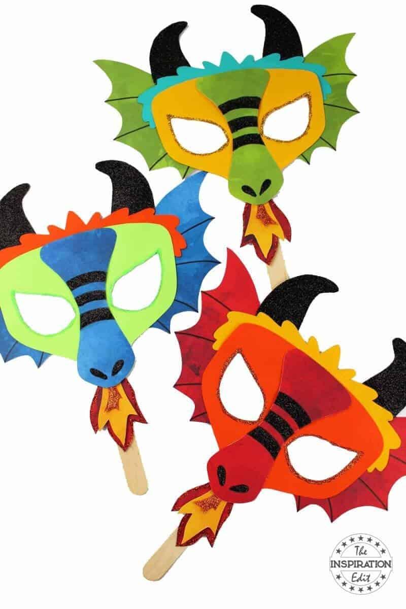 chinese new year dragon mask dragon craft