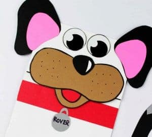 dog puppet preschool craft