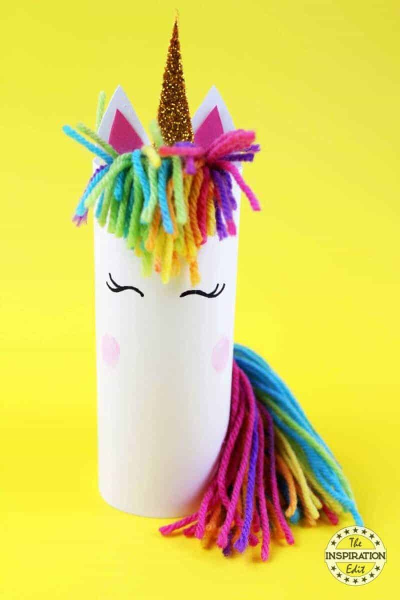 DIY Unicorn Craft Using Toilet Tubes · The Inspiration Edit