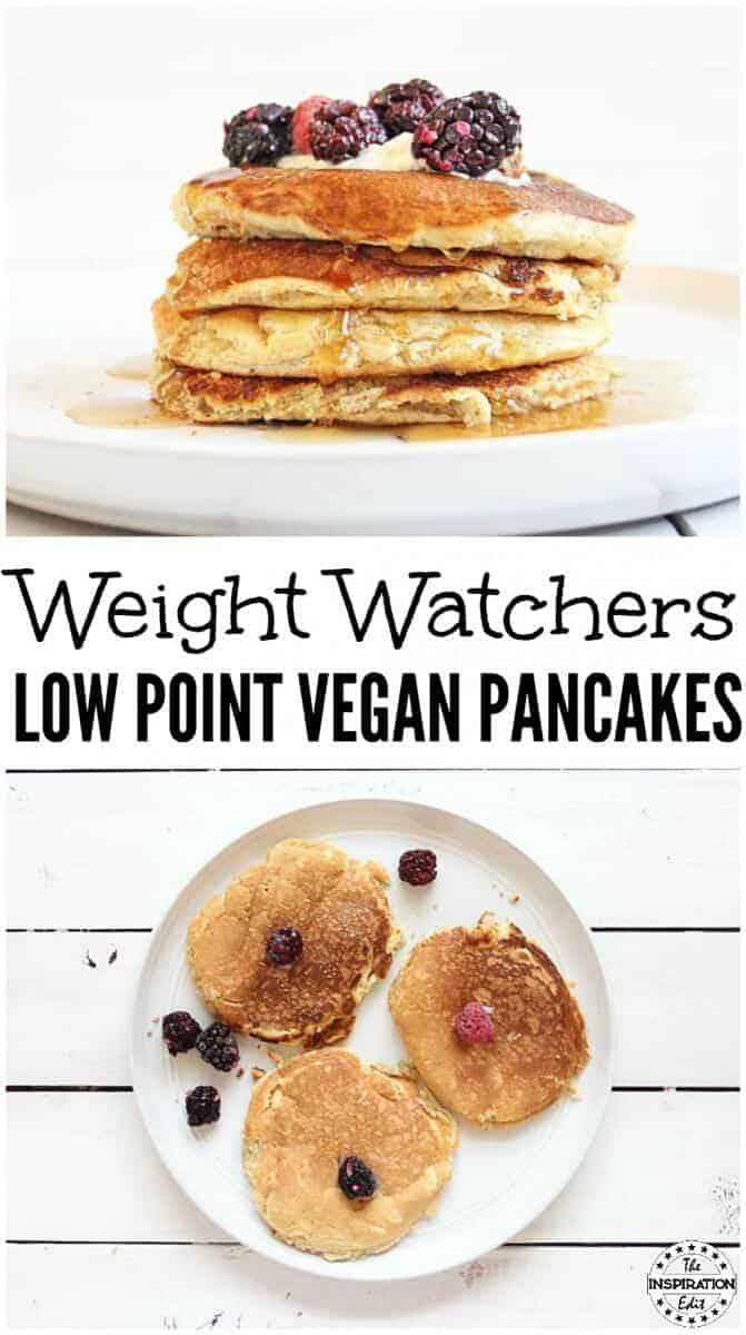 weight watchers vegan pancakes low points
