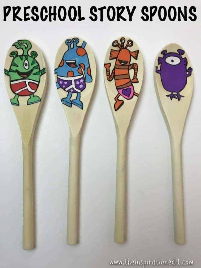Preschool story spoons