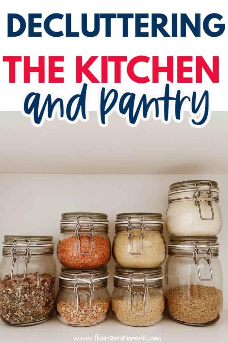 decluttering pantry