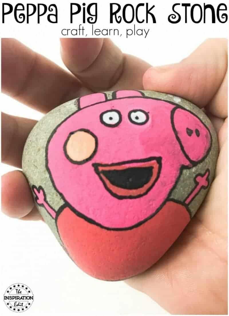 peppa pig rock stone