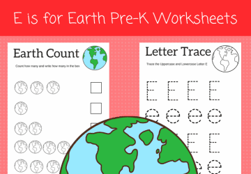 E is for Earth preschool Worksheets