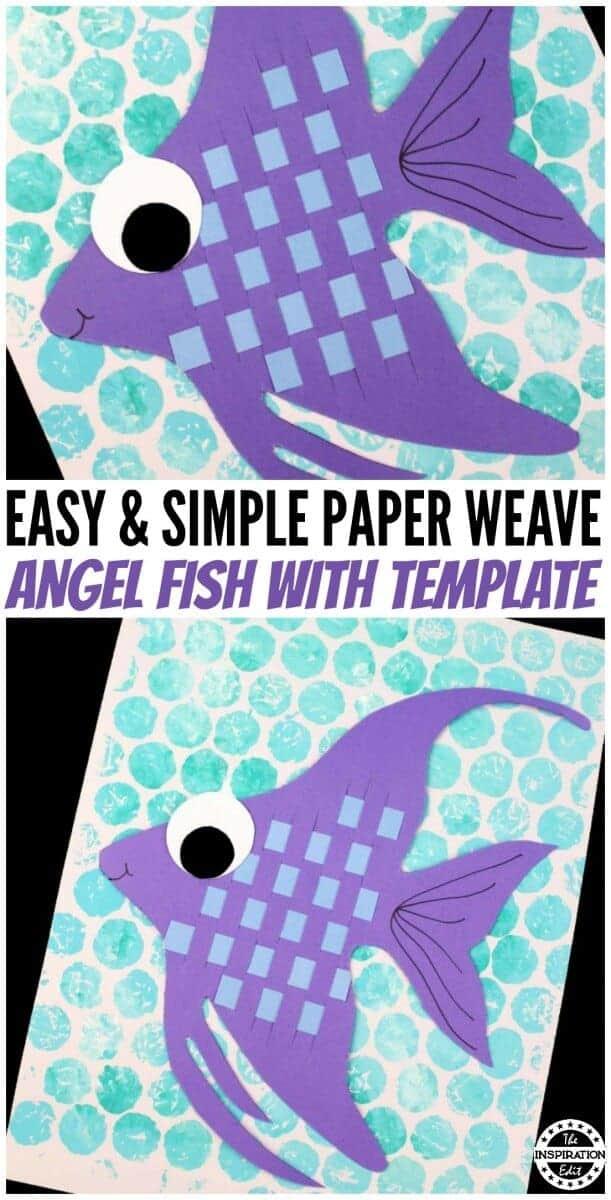 paper angel fish craft fro preschool kids