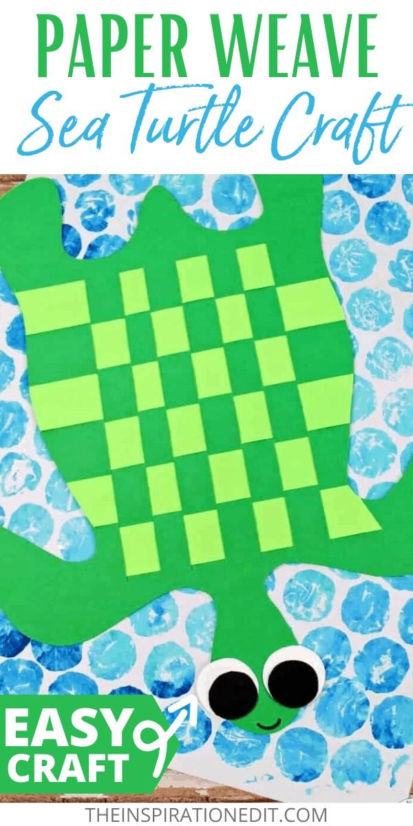 paper weave sea turtle craft