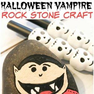 Halloween Vampire Rock Stone