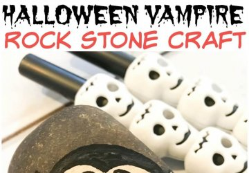 Halloween Vampire Craft Rock Stone