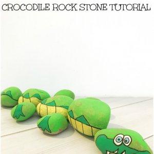 CROCODILE crocodile painted rock idea