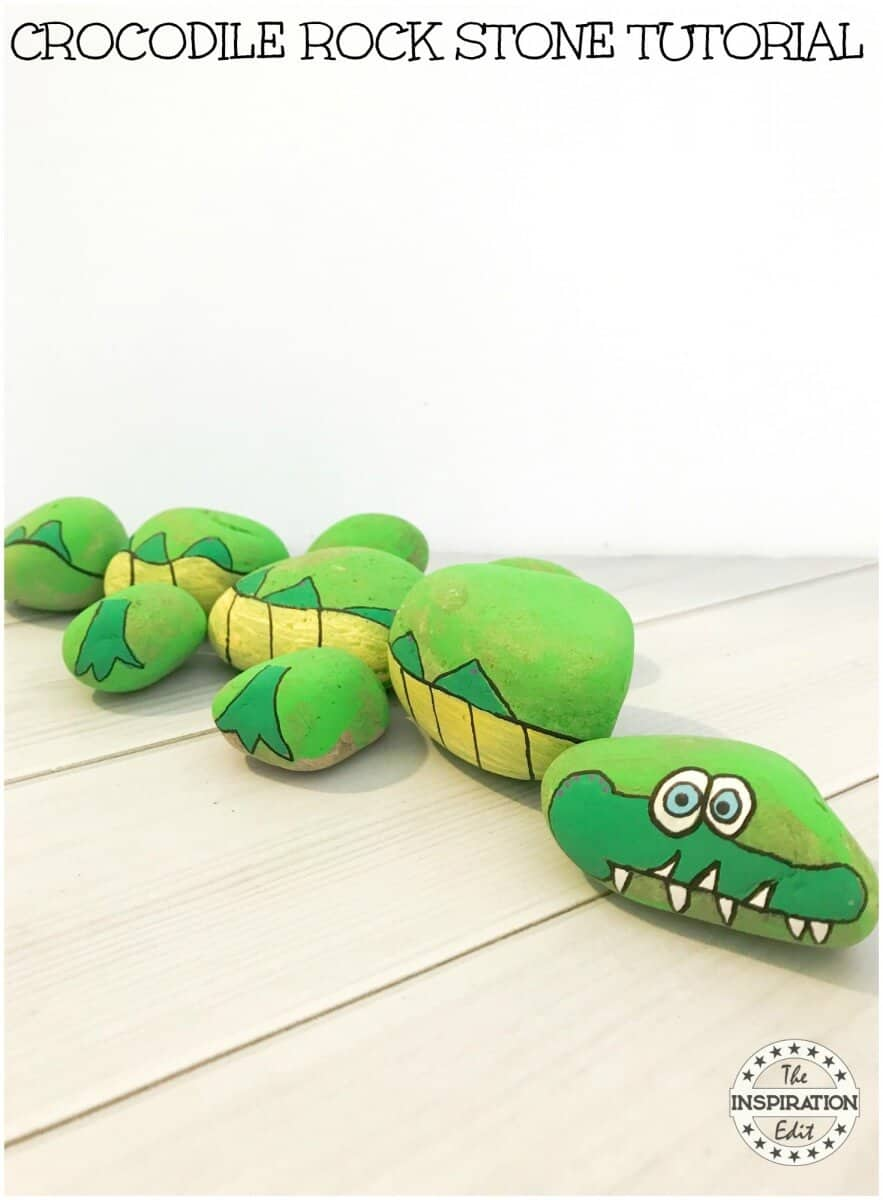CROCODILE crocodile painted rock idea