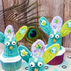peacock cupcakes creative cupcake ideas