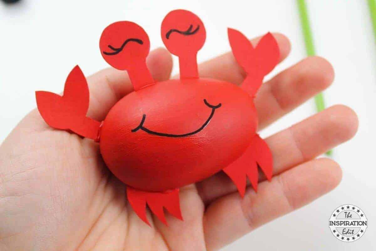 crab craft idea for kids