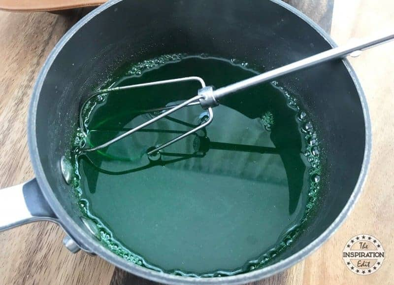 Halloween Party Food For Adults mixing the jello and gelatin to make ghosts