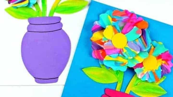 kids flower pot craft idea