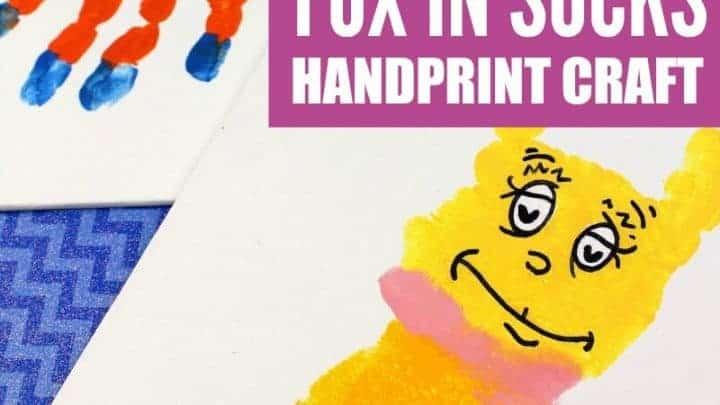 DR SEUSS CRAFTS FOX IN SOCKS HANDPRINT ART
