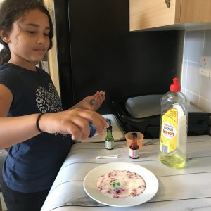 ideas to teach engineering, adding food colouring to milk