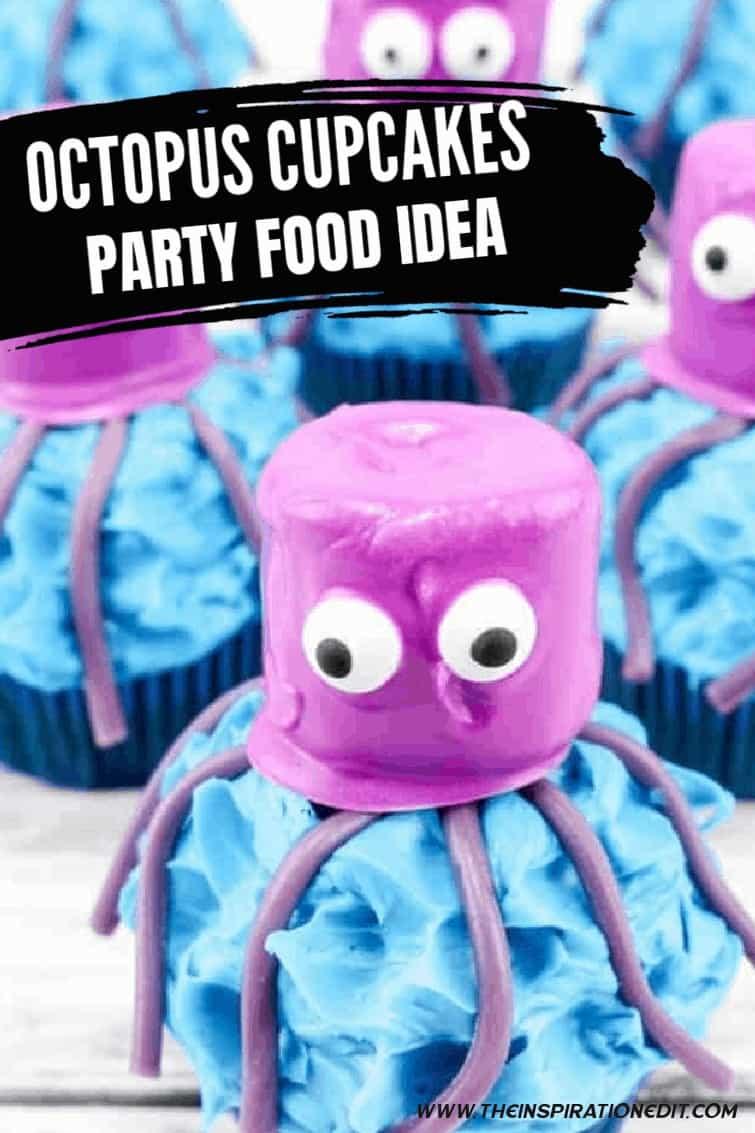 Octopus Cupcakes Party Food Idea