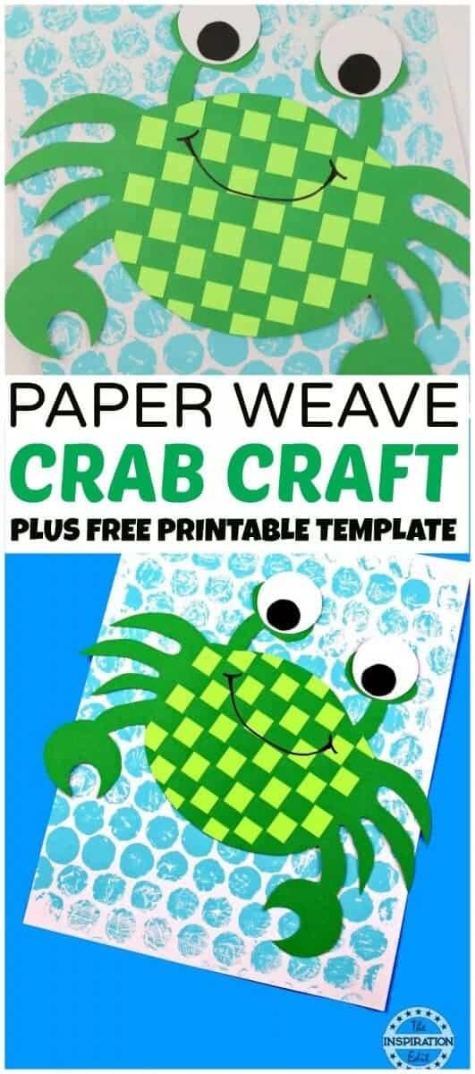 PAPER WEAVE CRAB CRAFT