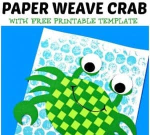 This is an adorable Green Paper Crab Craft For Preschoolers.