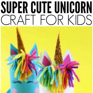 Unicorn craft idea using toilet roll