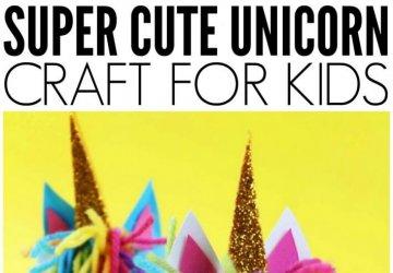 Unicorn craft idea using toilet roll
