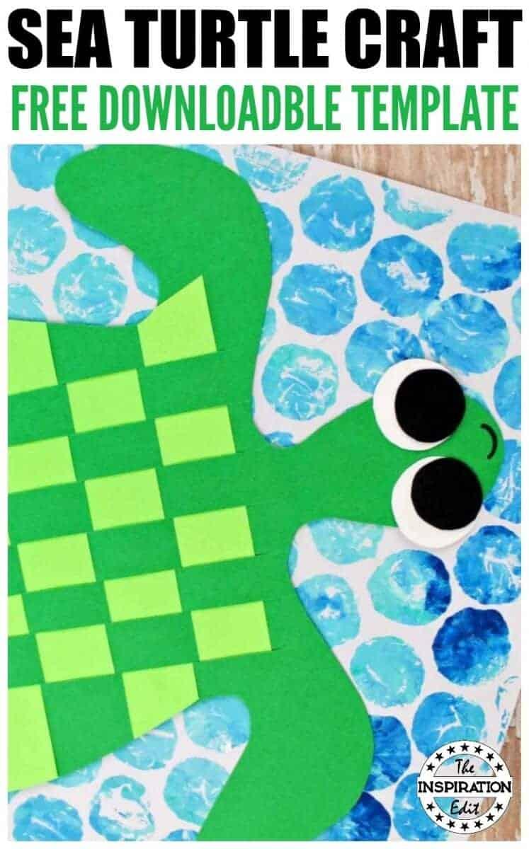 sea turtle paper weave craft