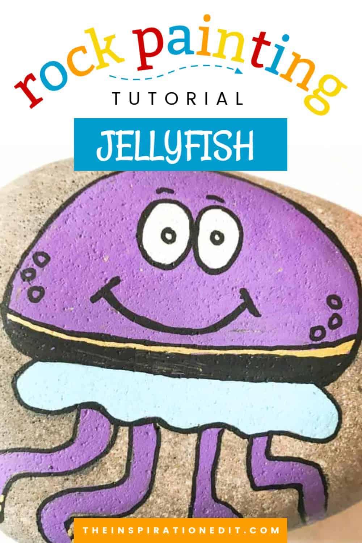 jellyfish painted rock