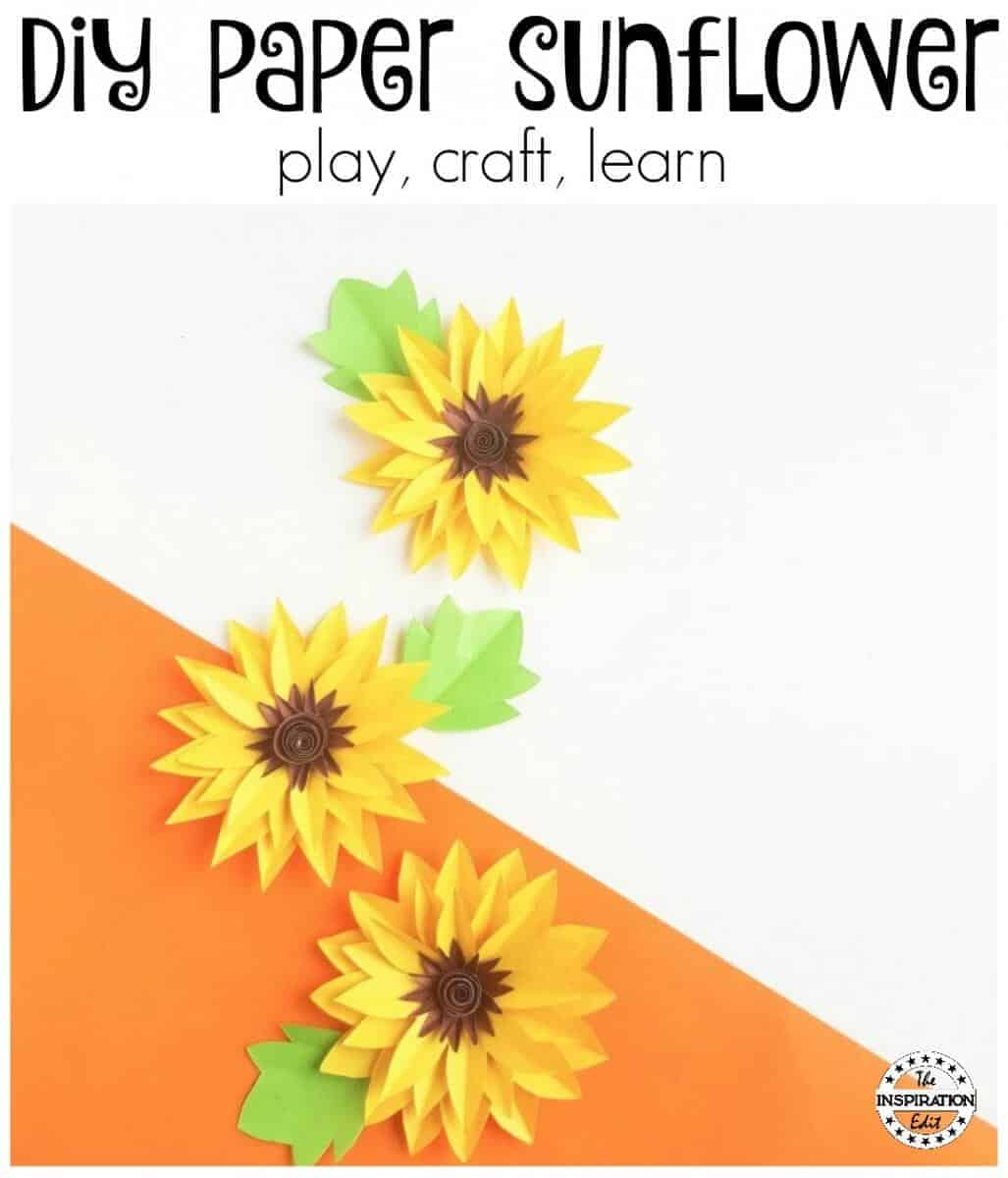 Diy paper sunflower craft for kids the inspiration edit diy paper sunflower craft for kids mightylinksfo