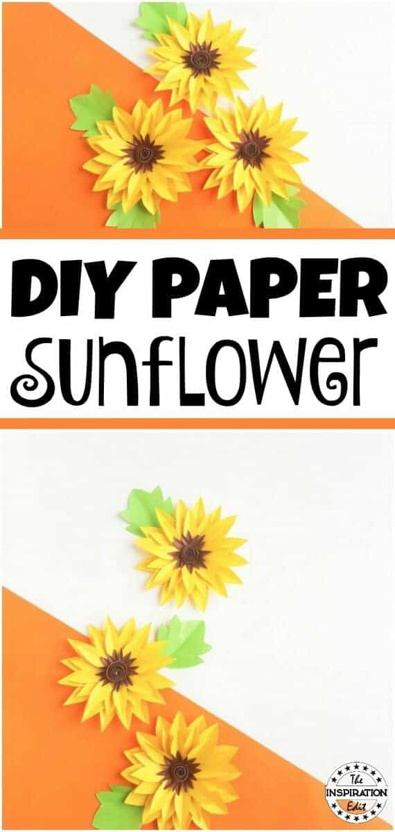 Diy Paper Sunflower Craft For Kids 183 The Inspiration Edit