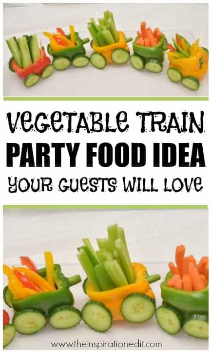 vegetable train party food idea a capsicum train