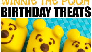 Winnie The Pooh Birthday Cake Pops