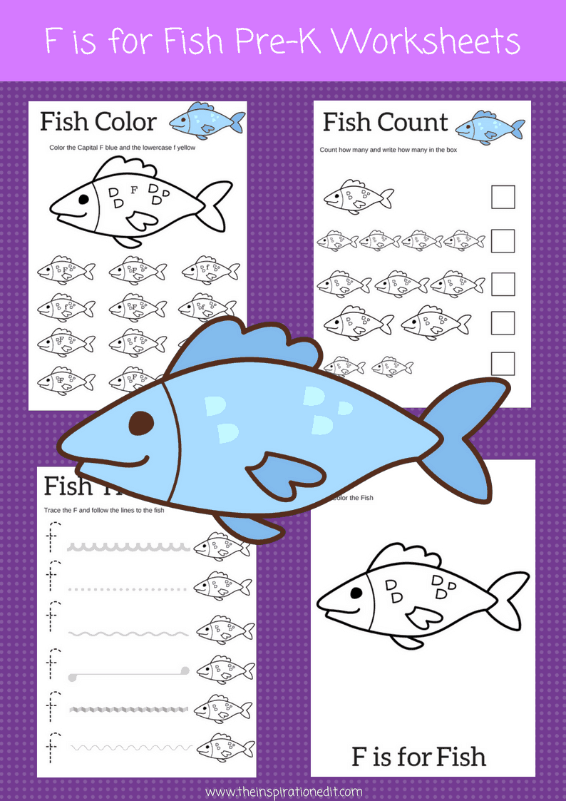 Fish Preschool Worksheets