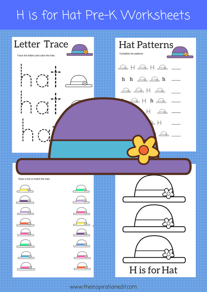 H is for Hat Preschool Worksheets