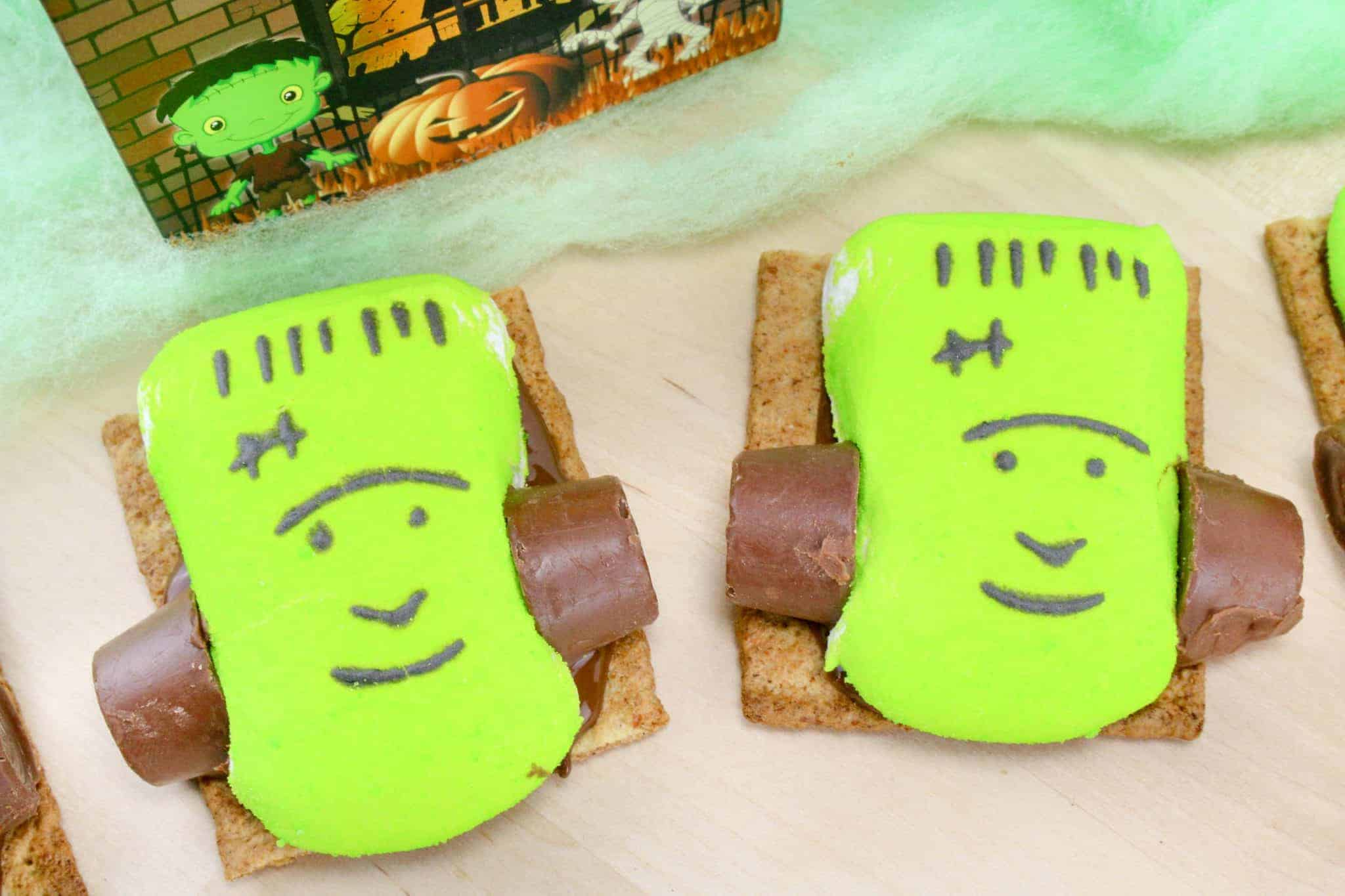 frankenstein smores a halloween party food idea